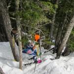 Steep jungle skiing (Nick's Photo).