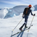 Crossing the Rumbling Glacier (Nick's Photo).