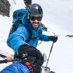 Paul is always stoked - skiing off the summit of Shuksan.
