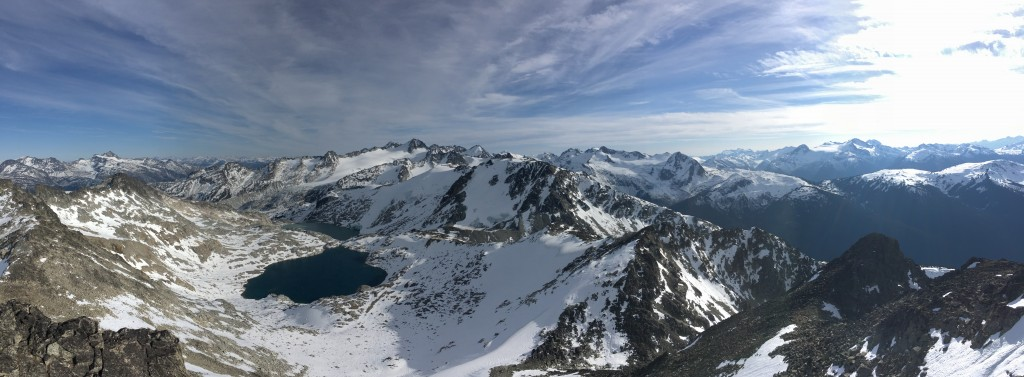 Panorama from Blackcomb Peak on one of the last days of the fall!
