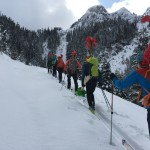 Opening the track for the first ever Squamish Skimo Race!